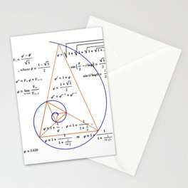 Golden Triangle / Logarithmic Spiral Stationery Cards