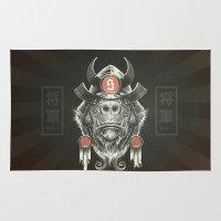shih tzu Area & Throw Rugs featuring Shogun Executioner by Dr. Lukas Brezak