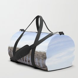 Wooden Fence at the Beach Duffle Bag