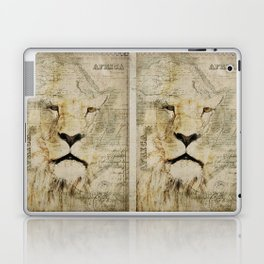 Lion Vintage Africa old Map illustration Laptop & iPad Skin