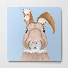 Wisteria Rabbit Metal Print