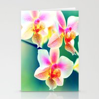 orchid Stationery Cards featuring orchid by haroulita