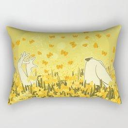 Yellow Effervescence Rectangular Pillow