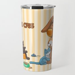 Rabbit catlover Travel Mug