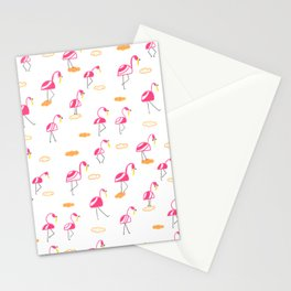 Pink Summer Flamingo Stationery Cards
