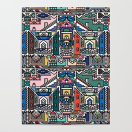 Ndebele Village Poster