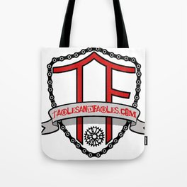 "Tables and Fables ""Shield"" Logo (version 1) Tote Bag"