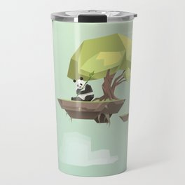 Low Poly Panda Bear Travel Mug