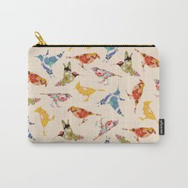 Vintage Wallpaper Birds Carry-All Pouch