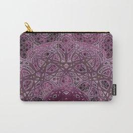 Vintage Merlot Lace Mandala Carry-All Pouch
