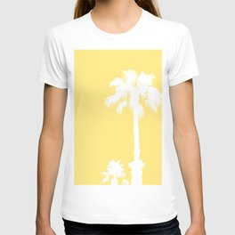 Palm Silhouettes On Yellow T-shirt