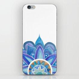 Floral mandala blue iPhone Skin