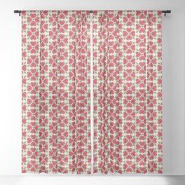 Heart Flowers Sheer Curtain