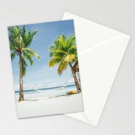 Palm trees, hammock Stationery Cards