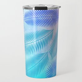Feathers on Watercolor Background Travel Mug