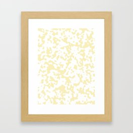 Spots - White and Blond Yellow Framed Art Print