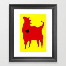 Royal emblem Framed Art Print