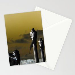 icicle lamp and tree - inverted Stationery Cards