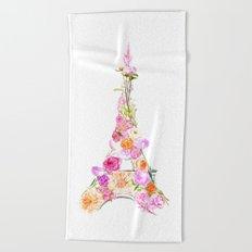 Paris in Bloom Beach Towel