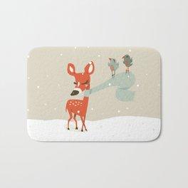 Winter Deer Bath Mat