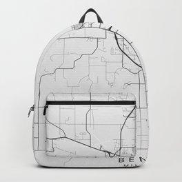 Bemidji - Minnesota - US Gray Map Art Backpack