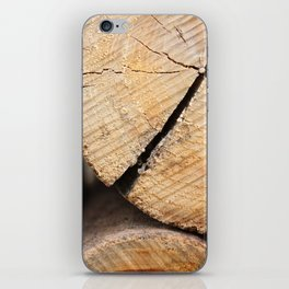 Wood Pile iPhone Skin