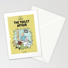 Tintin Cover Parody | The Toilet Affair Stationery Cards