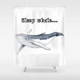Sleep whale Shower Curtain