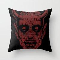satan Throw Pillows featuring Satan by Gurven
