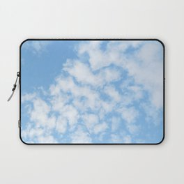 Summer Sky with fluffy clouds Laptop Sleeve