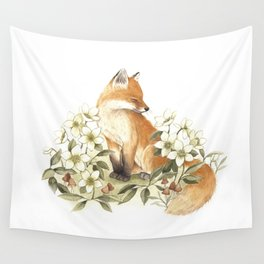 Springtime Fox Wall Tapestry