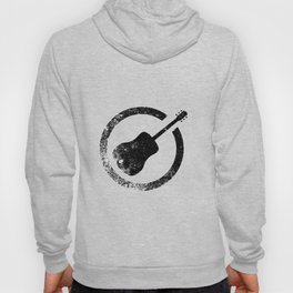 Acoustic Guitar Ink Stamp Hoody