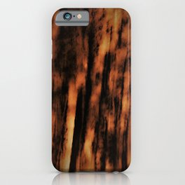 Retro abstract textured design iPhone Case