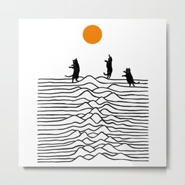 Good Morning Meow 2 - Joy Metal Print