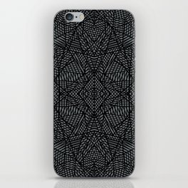 Ab Lace Black and Grey iPhone Skin