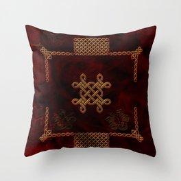 Celtic knote, vintage design Throw Pillow