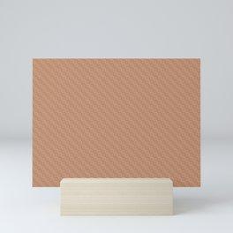 Cavern Clay SW 7701 and Ligonier Tan SW 7717 Grid Tessellation Stripe Lines Weave Pattern Mini Art Print