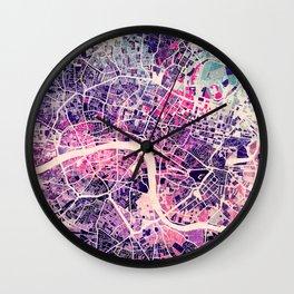 London Mosaic Map #2 Wall Clock