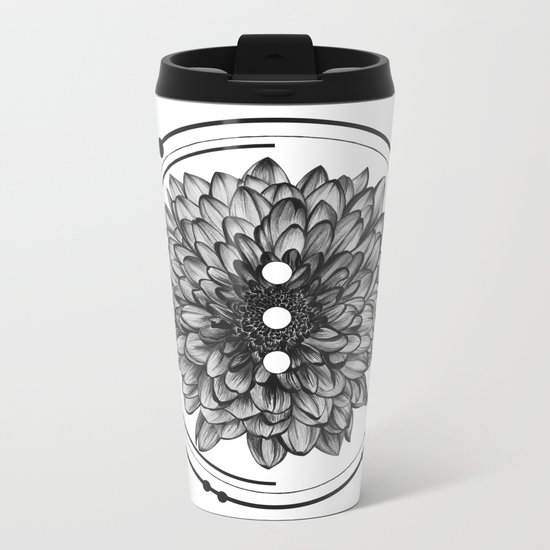 Elliptical I Metal Travel Mug