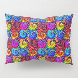 Spiral Tie Dye Checkerboard Pillow Sham