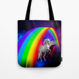 Unicorn & Rainbow Tote Bag