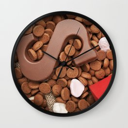I - Bag with treats, for traditional Dutch holiday 'Sinterklaas' Wall Clock