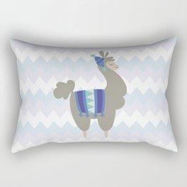 Winter Llama Rectangular Pillow