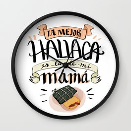Venezuelan christmash song La mejor hallaca Wall Clock