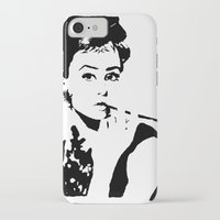 hepburn iPhone & iPod Cases featuring Hepburn by annelise h
