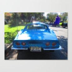 Corvette Blue Canvas Print