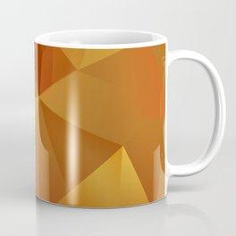 Geometric Pattern - Layered Sunburst Warm Earth Colours Coffee Mug
