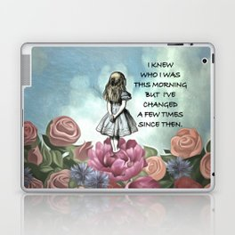 Wondering Alice - Alice In Wonderland Quote Laptop & iPad Skin
