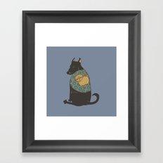 Black Dog in a Kitten Coat Framed Art Print