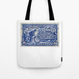 Special Delivery 1902 vintage blue postage stamp Tote Bag